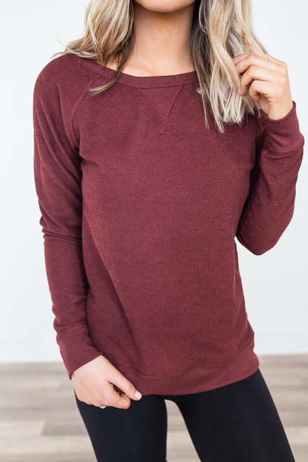 Game Day Reversible Pullover - Maroon
