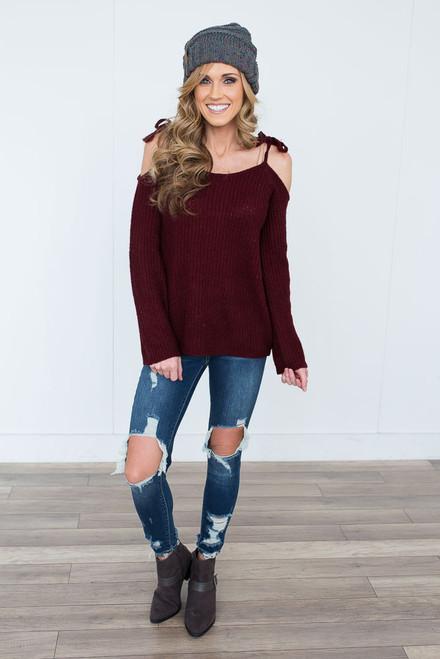 BB Dakota Mellie Sweater - Burgundy