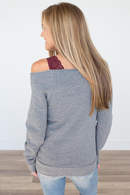Slouchy Pocket Pullover - Heather Grey - FINAL SALE