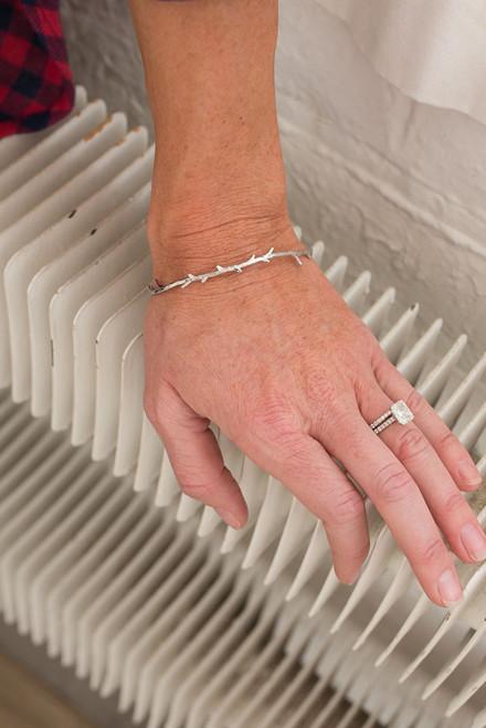 Branch Cuff Bracelet - Silver - FINAL SALE
