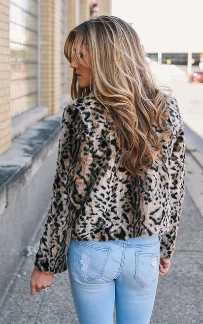 BB Dakota McKinley Leopard Jacket - Brown