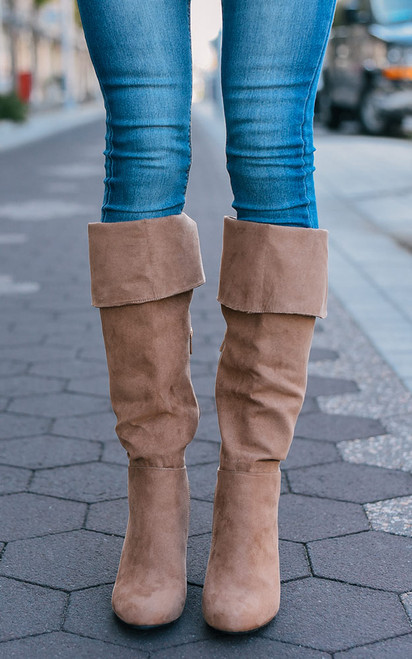 Over the Knee Boots - Light Camel