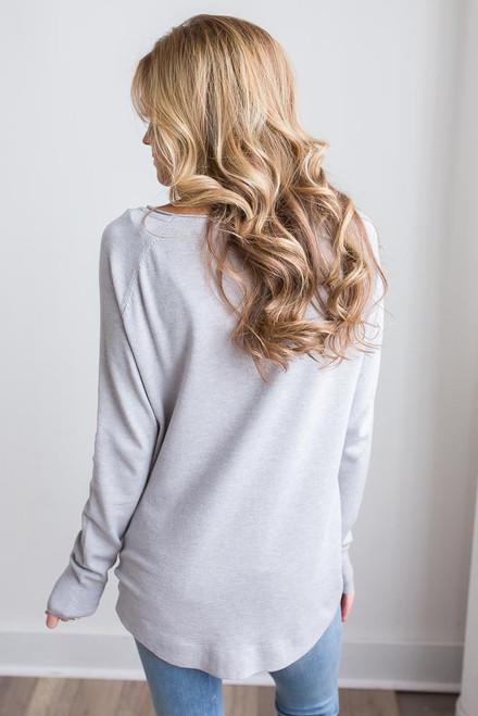 Lightweight Boatneck Sweater – Heather Grey