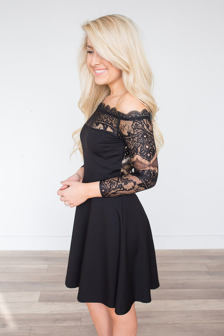 BB Dakota Dennett Lace Dress - Black