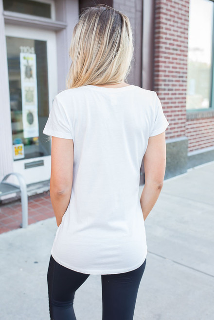 Everyday V-Neck Tee - White