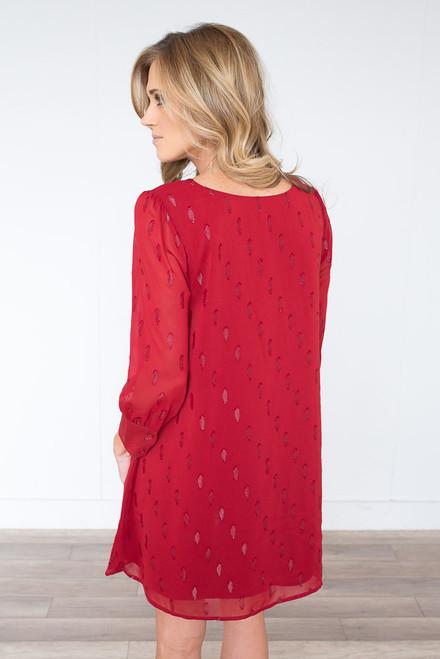 BB Dakota Dayna Shift Dress - Lipstick Red