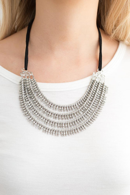 Crusader Layered Necklace - Silver