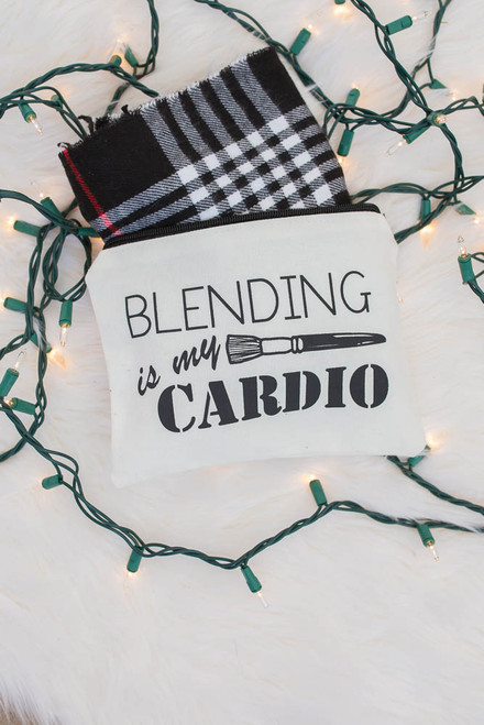 Blending is my Cardio Makeup Bag - White