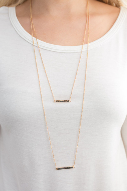 Layered Bar Necklace - Gold
