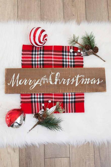Barnwood Merry Christmas Sign - Brown