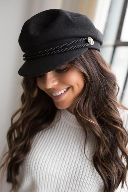 Braided Lieutenant Hat - Black