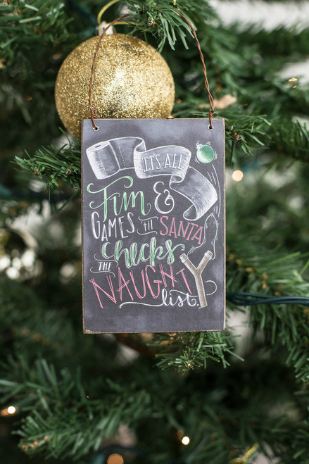 Naughty List Ornament