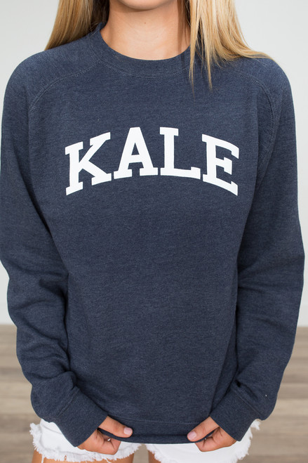 Suburban Riot Kale Sweatshirt - Navy - FINAL SALE