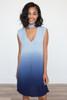 BB Dakota: Jill Ombre Knit Dress - Blue - FINAL SALE
