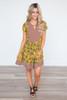 Golden Grove Mixed Print Dress - Mustard Multi - FINAL SALE