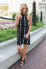 Follow Your Arrow Halter Neck Dress - Black - FINAL SALE
