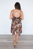 Floral Cross Back Midi Dress - Black - FINAL SALE
