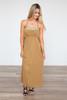 Criss Cross Back Maxi Dress - Irish Gold - FINAL SALE