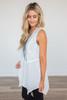 Bohemian Lace Detail Vest - White - FINAL SALE