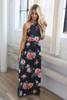 Everly Garden of Roses Maxi Dress - Onyx - FINAL SALE