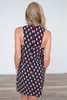 Geometric Print Shift Dress - Multi - FINAL SALE