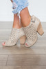 Coconuts by Matisse: J'Adore Studded Bootie - Beige - FINAL SALE