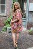Floral Print Kimono - Gold Multi - FINAL SALE