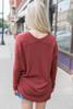 Cozy V-Neck Sweater - Brick