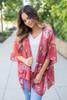 Floral Print Kimono - Scarlet - FINAL SALE