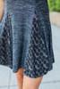 Mock Neck Lace Panel Dress - Charcoal - FINAL SALE