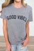 Suburban Riot Good Vibes Tee - Heather Grey