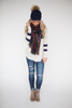 Varsity Knit Top - Taupe/Navy - FINAL SALE