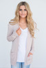 Down By The Bay Knit Cardigan - Pale Blush