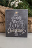 Merry Little Christmas Box Sign