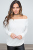 Off the Shoulder Pullover - Ivory