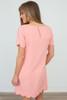 It Girl Scallop Trim Short Sleeve Dress - Peach - FINAL SALE