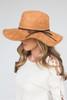 Suede Floppy Hat - Camel - FINAL SALE