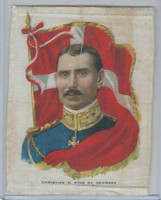 SC9 ATC Silk, Rulers With Flag, 1910, Denmark, Christian X
