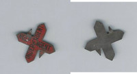 Tin Tobacco Tag, 1890's-1910's, Independent Red Cross