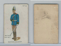 E7 Caramel, Soldier Cards, 1910, #19 German Soldier