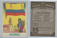 F0-0 England, Flags of the World, 1950's, #14 Columbia