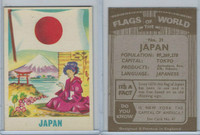 F0-0 England, Flags of the World, 1950's, #31 Japan