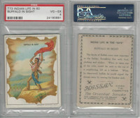 T73 Hassan, Indian Life, 1910, Buffalo in Sight, PSA 4 VGEX