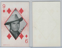 W Card, Western Playing Card, 1950's, Ty Hardin
