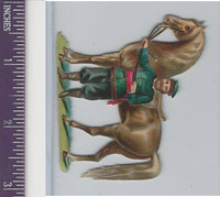 Victorian Diecuts, 1890's, Horses, Brown Horse & Trainer (7)