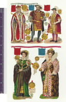Victorian Diecuts, 1890's, History, Kings & Queens England 6 Pages (P12)