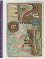 Victorian Card, 1890's, Ships & Nautical, Chicago & Petral US Navy (P18)