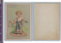 Victorian Card, 1890's, Appleton, Nathaniel, Boy With Pipe