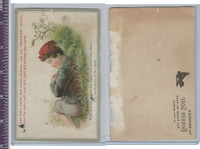 Victorian Card, 1890's, Banner Soap, Boy Sleeping In Grass