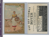 Victorian Card, 1890's, Boyer Carmes, Girl Digging Clams